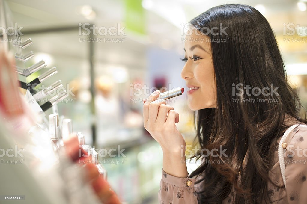 cosmetics shopping royalty-free stock photo