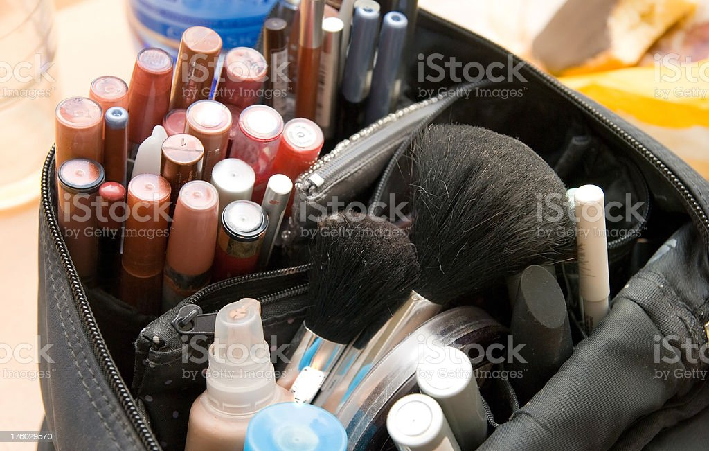 cosmetics -  Theatermaske professionelle Schminktasche royalty-free stock photo