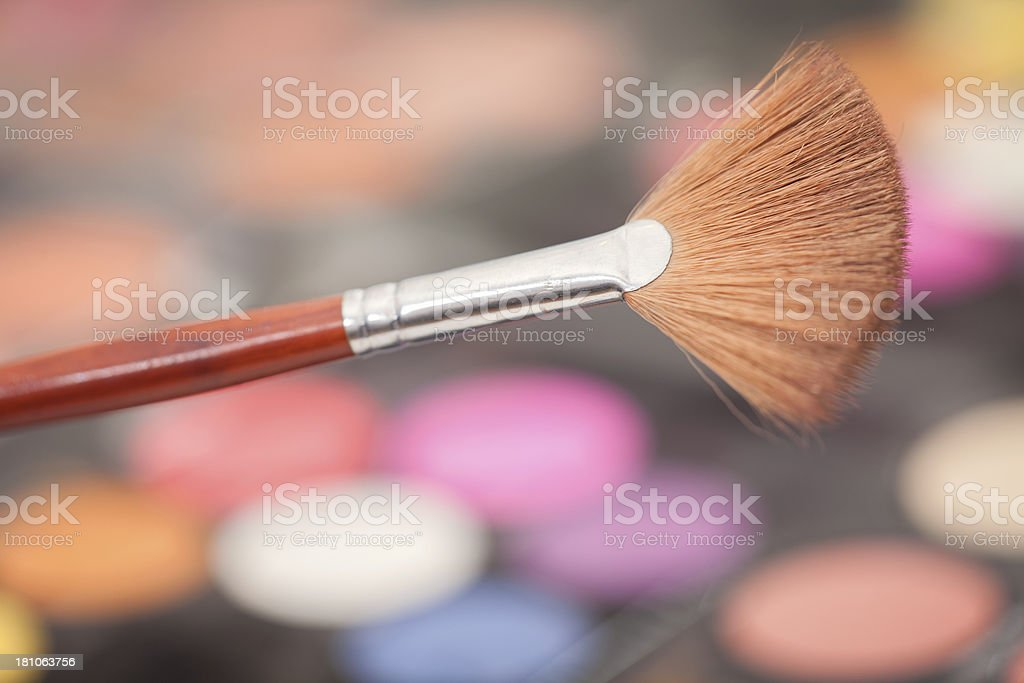 Cosmetics with Brush royalty-free stock photo