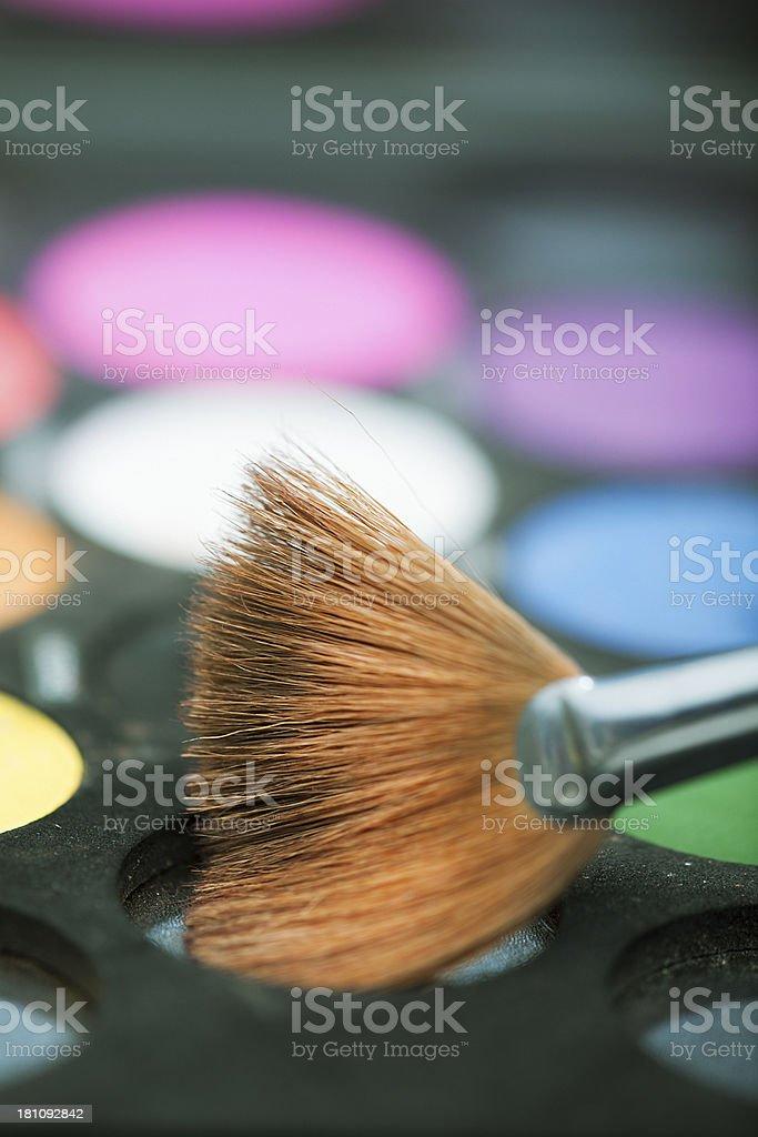 Cosmetics with Brush royalty-free stock photo