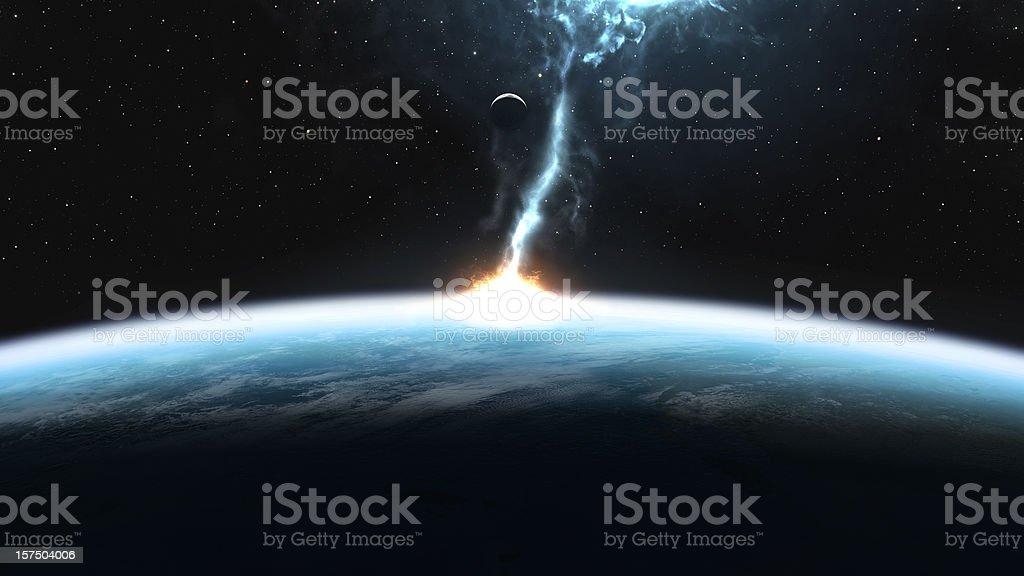 Cosmic Storm stock photo