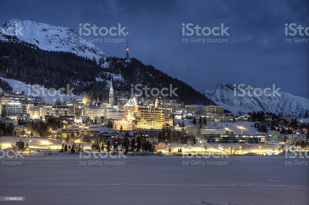 Cosmopolitan Alpine city royalty-free stock photo