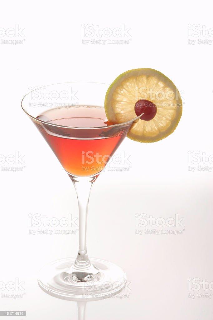 Cosmopolitan Cocktail Drink in Martini Glass stock photo