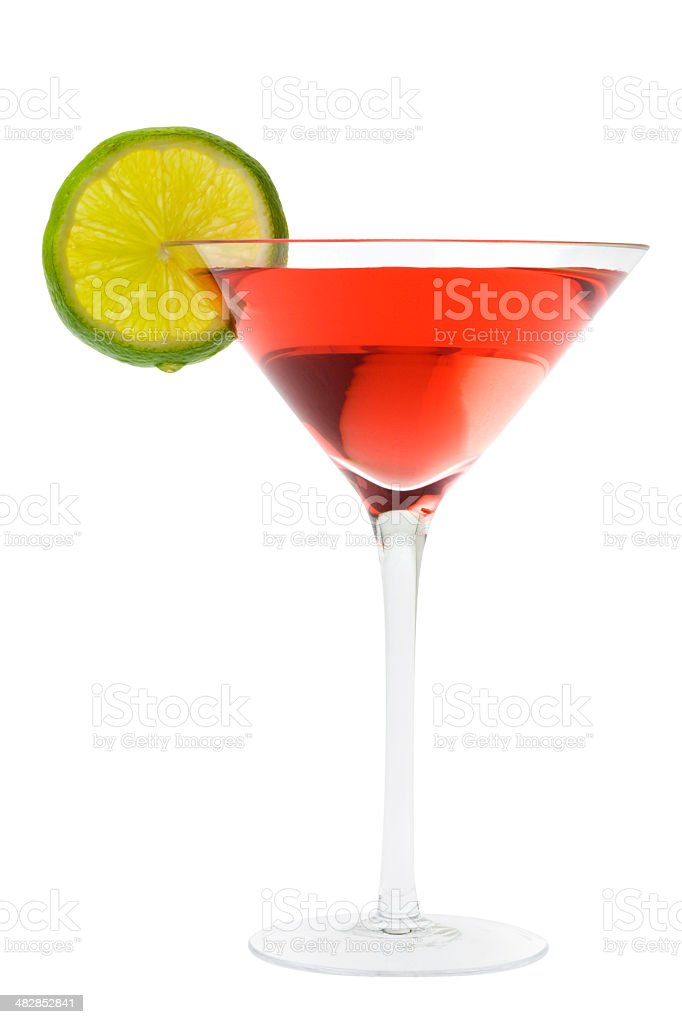 Cosmopolitan cocktail with lime royalty-free stock photo