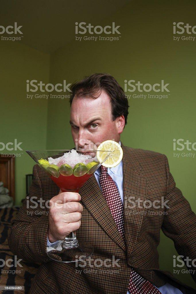 Cosmopolitan Martini Classy Guy royalty-free stock photo