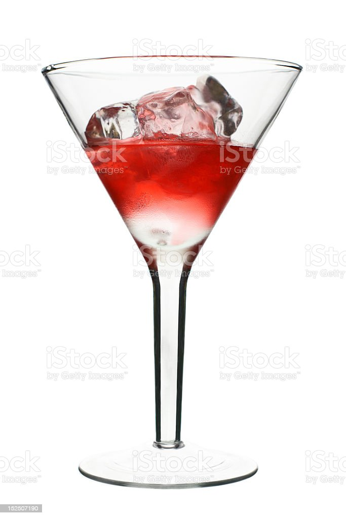 Cosmopolitan - Red Alcoholic Cocktail royalty-free stock photo