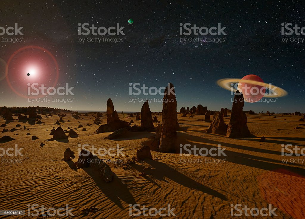 Cosmos From An Alien Landscape stock photo