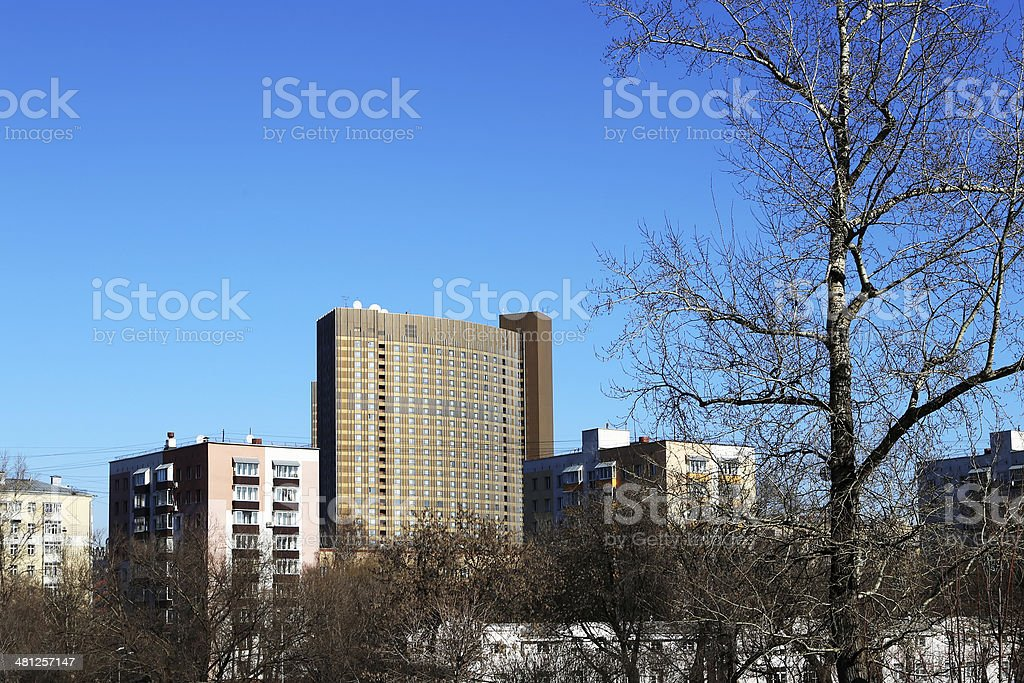 Cosmos Hotel, north-eastern Moscow, Russia stock photo