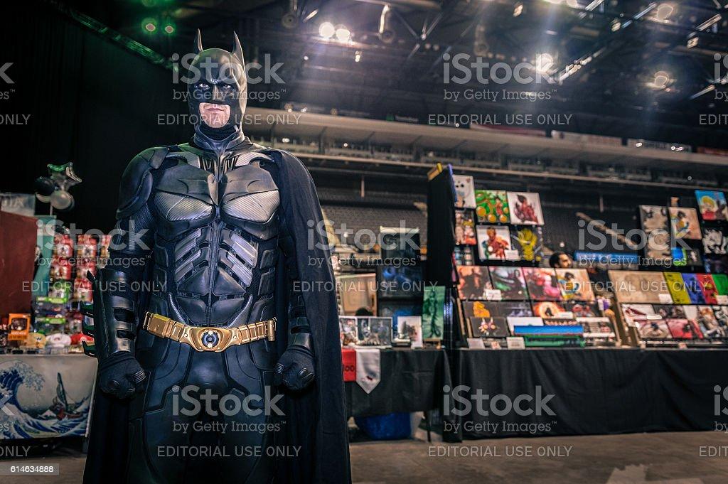 Cosplayer dressed as 'Batman' stock photo