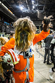Cosplayer dressed as 'Chewbacca' from 'Star Wars'