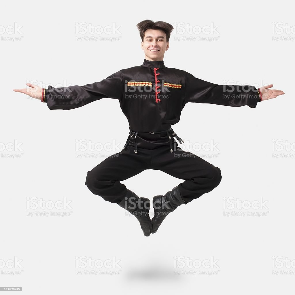 cossack dance royalty-free stock photo
