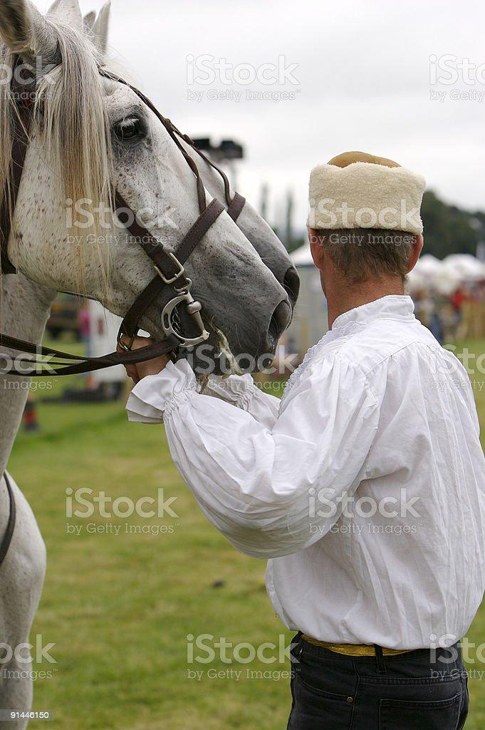 Cossack Horseman stock photo