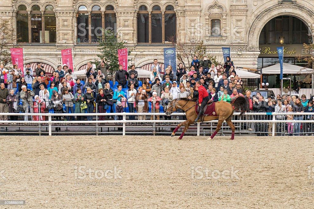 Cossack of the Kremlin School of Horse Riding in full-dress uniform...