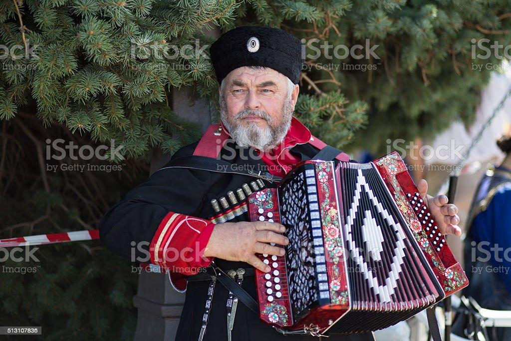 Cossack stock photo