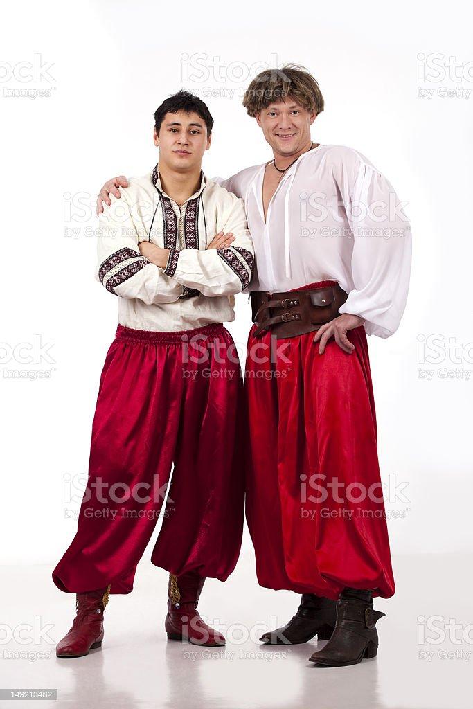 Cossacks in national ukrainian dress stock photo