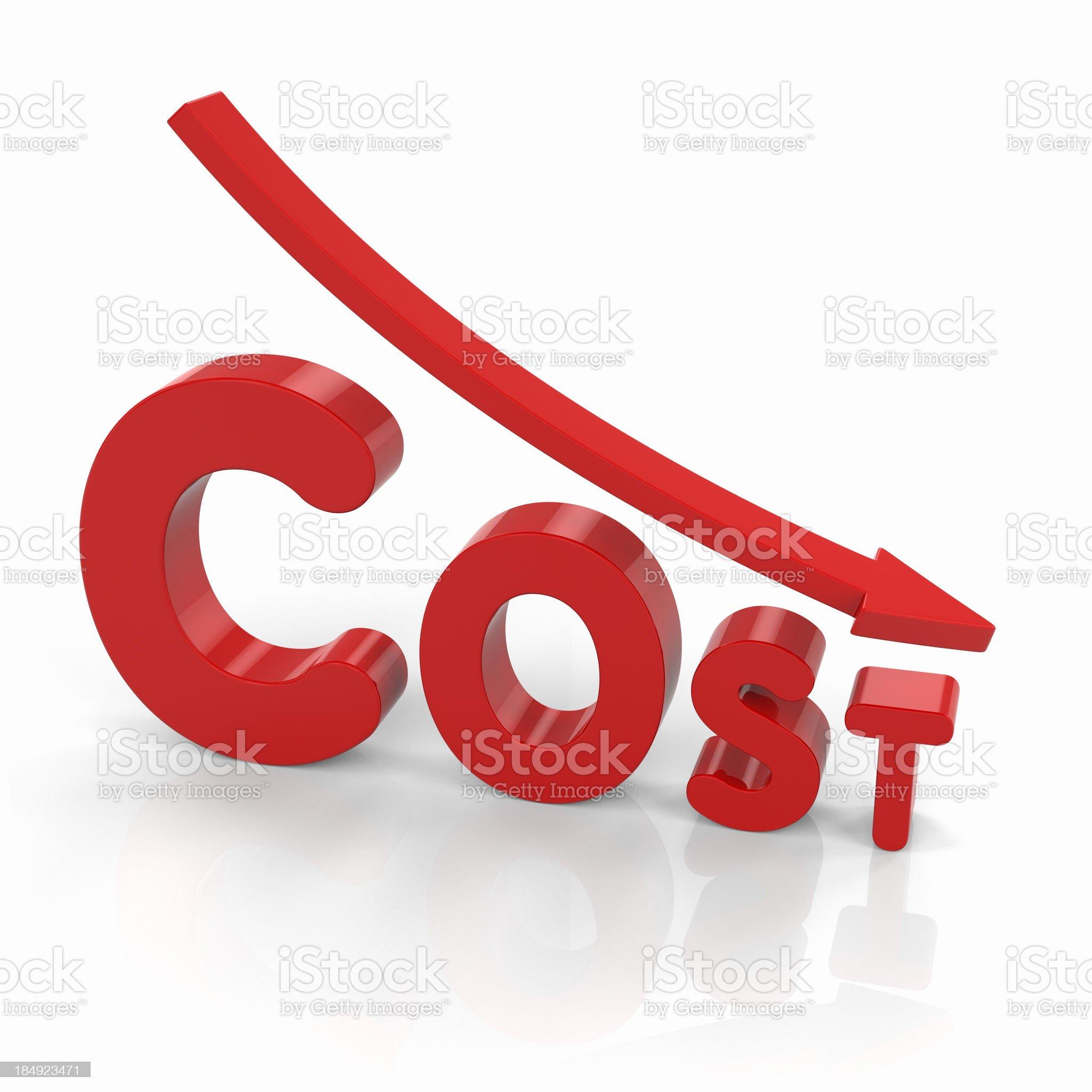 Cost Minimization royalty-free stock photo