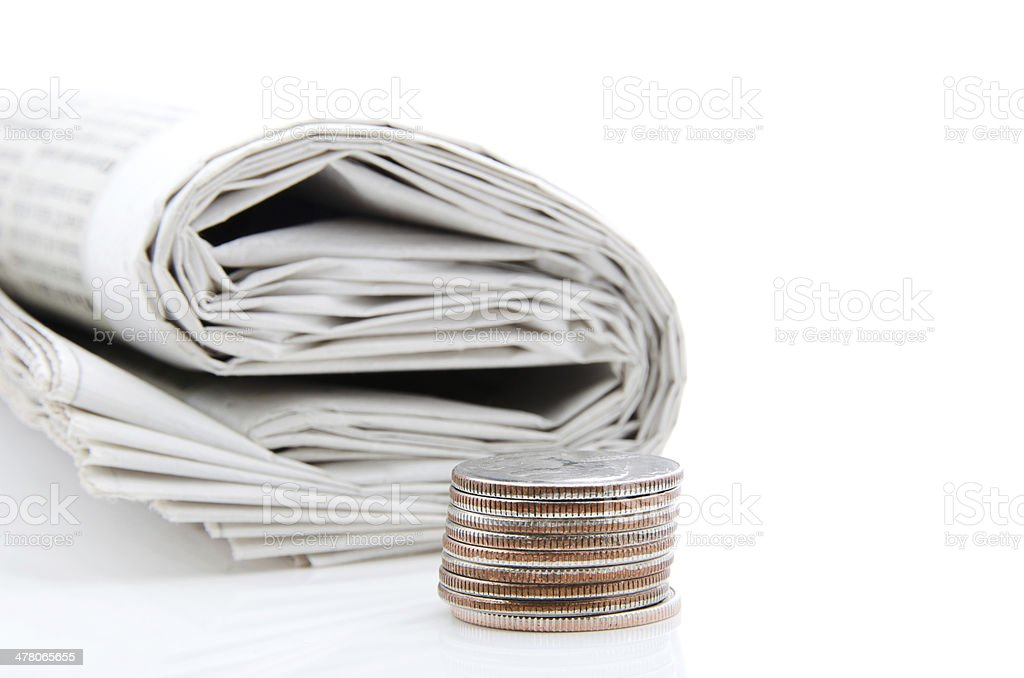 Cost of a Newspaper royalty-free stock photo