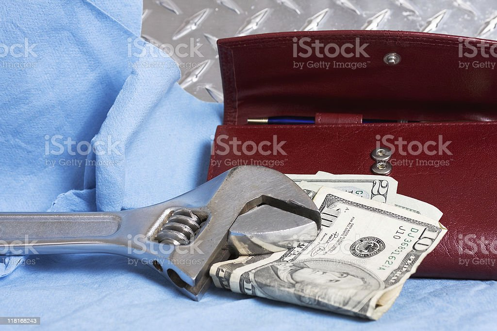 Cost of Auto Repairs royalty-free stock photo