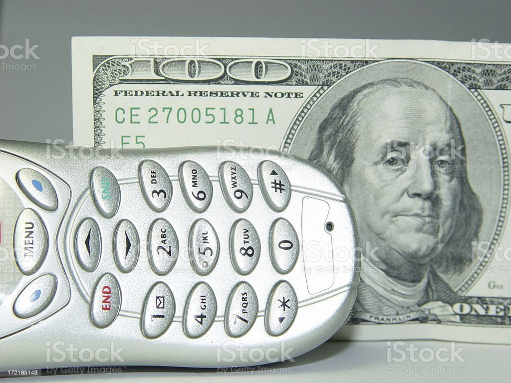 Cost of cell phones stock photo