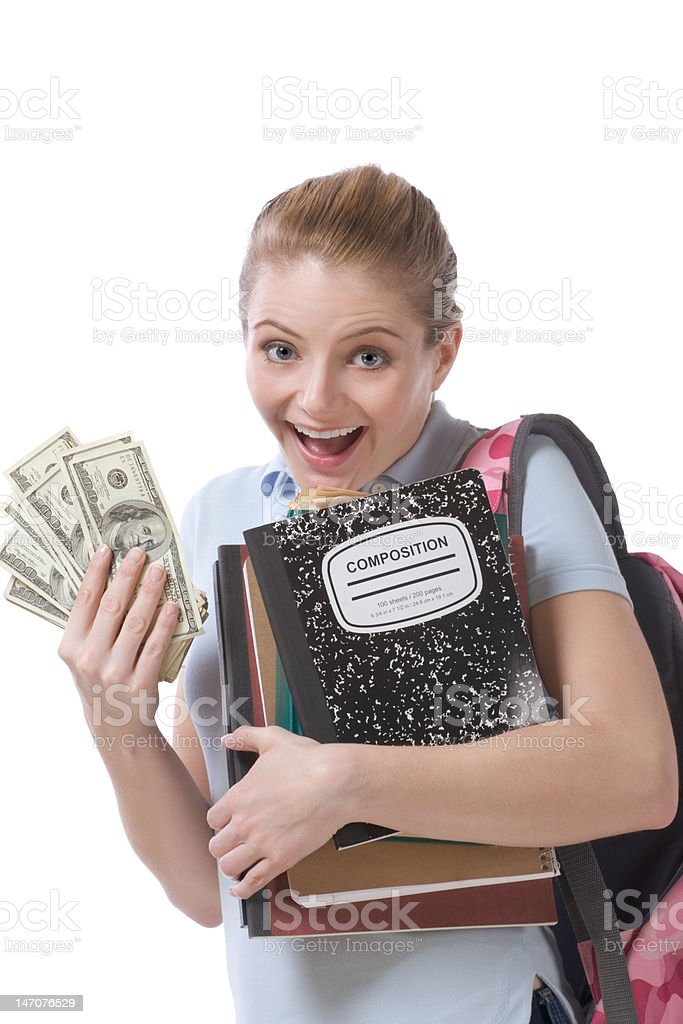 Cost of education student loan and financial aid royalty-free stock photo