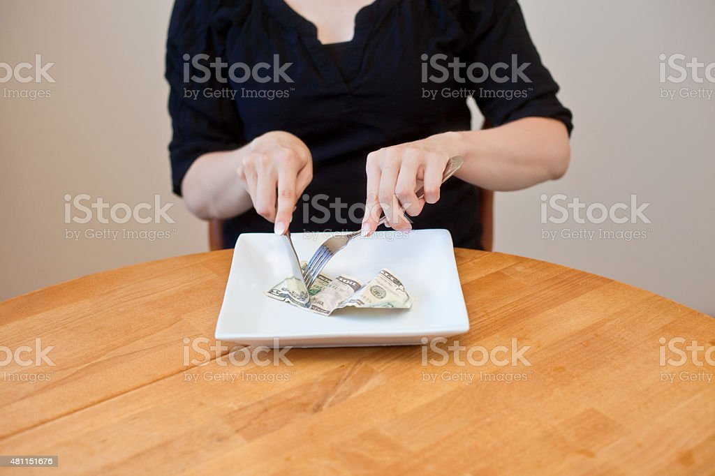 Cost of Food in America stock photo