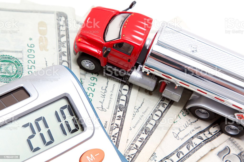 Cost of Gas in 2010 Concept stock photo