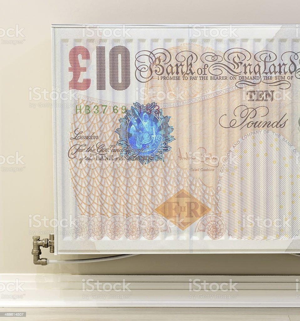 cost of heating stock photo