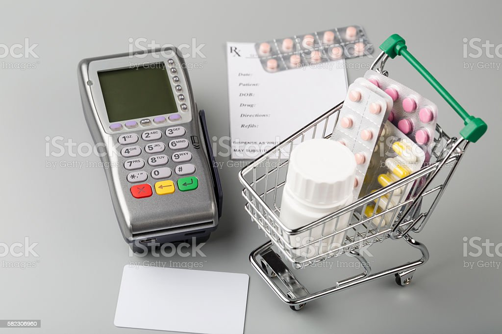 Cost of medicine stock photo