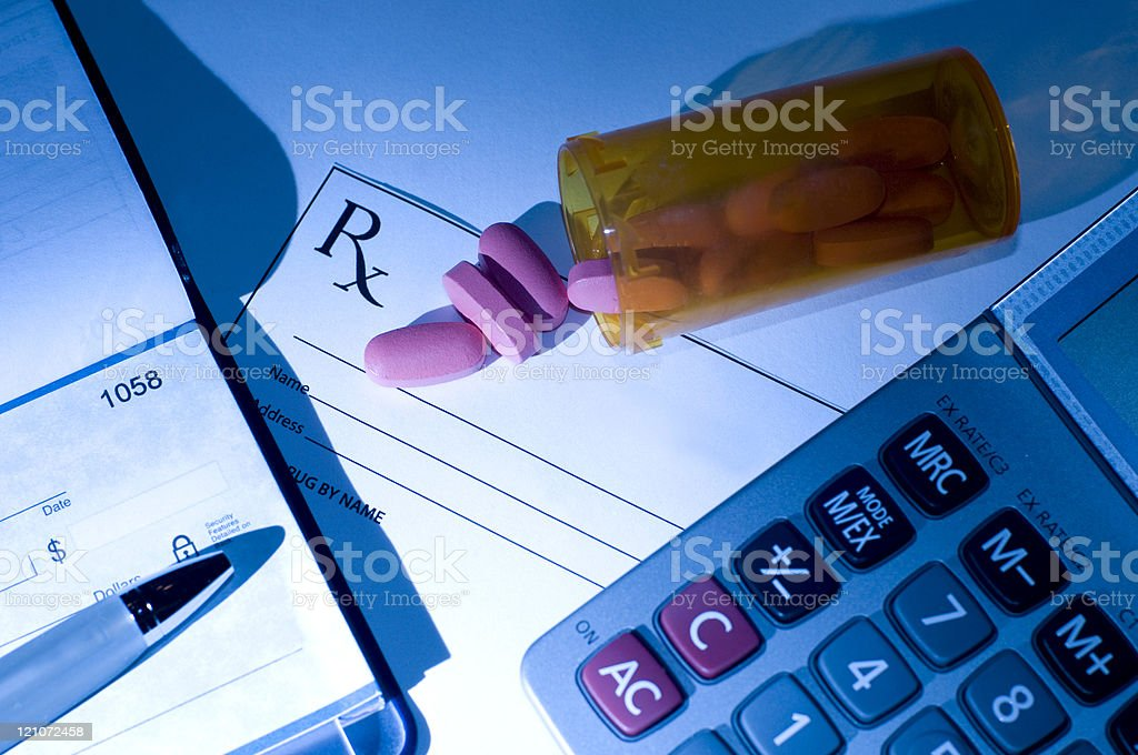 Cost of Prescription Mediction royalty-free stock photo