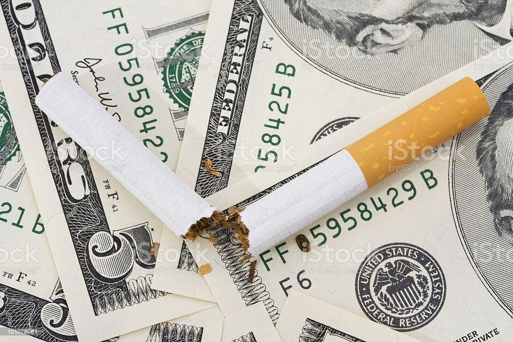 Cost of Smoking stock photo