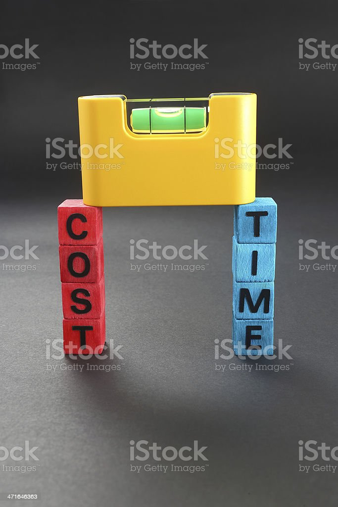 Cost vs. Time royalty-free stock photo