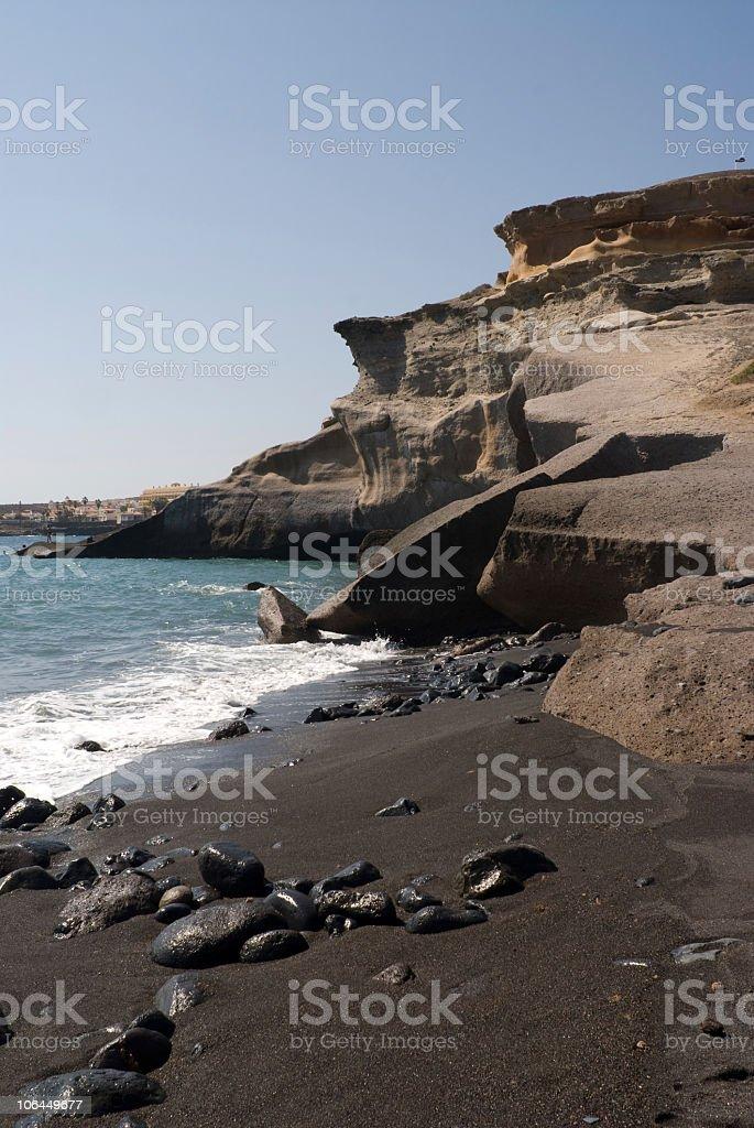 Costa La Caleta, Adeje, Tenerife foto stock royalty-free