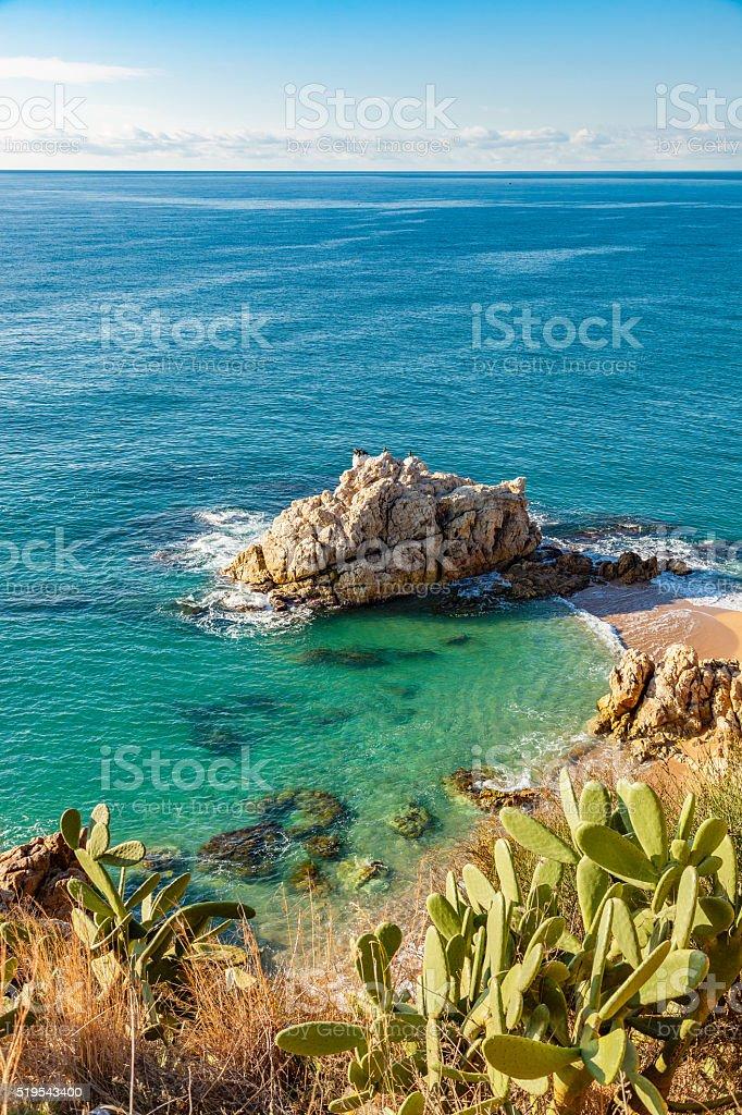Costa Brava beach stock photo