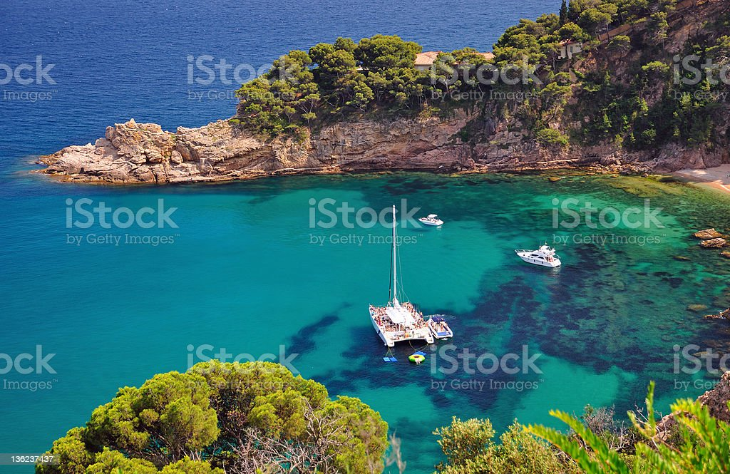 Costa Brava Coast,Spain stock photo