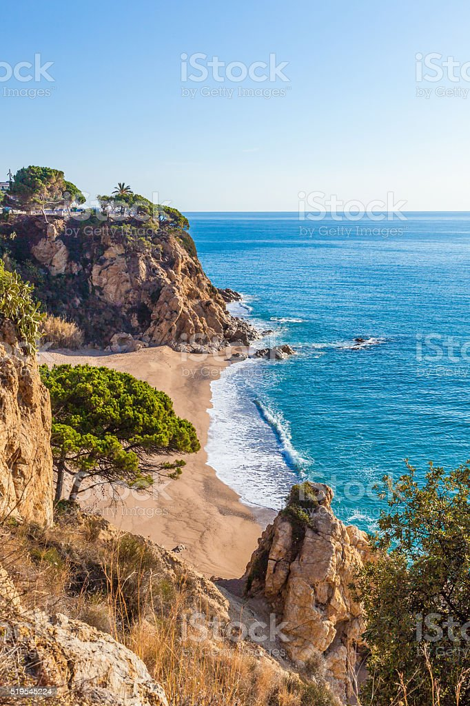 Costa Brave beach stock photo