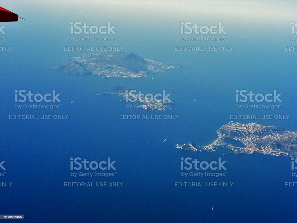 Costa campana - Ischia e Procida stock photo