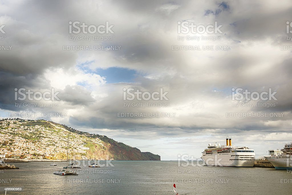 Costa Classica , Funchal, Madeira stock photo