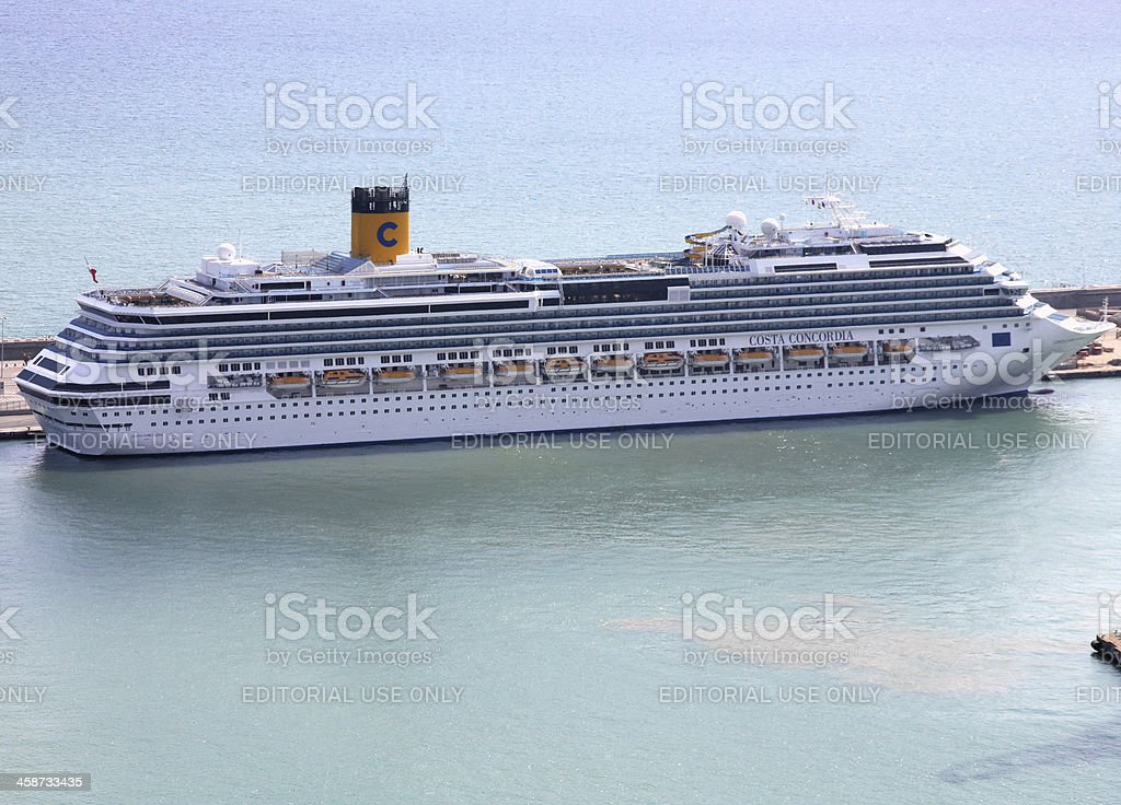 Costa Concordia cruise ship stock photo