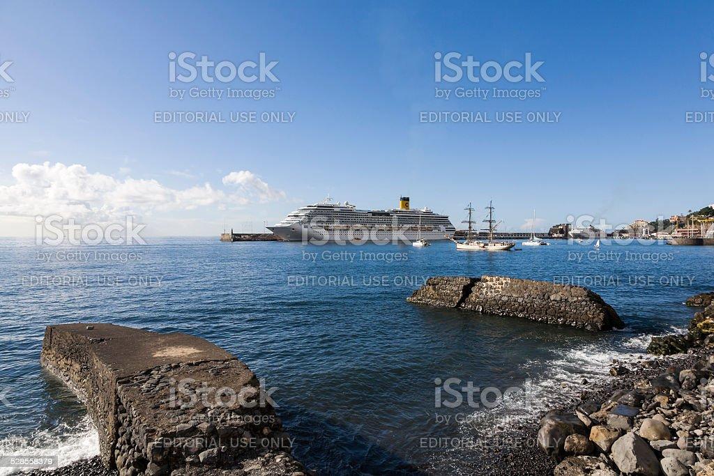 Costa Concordia in Funchal stock photo