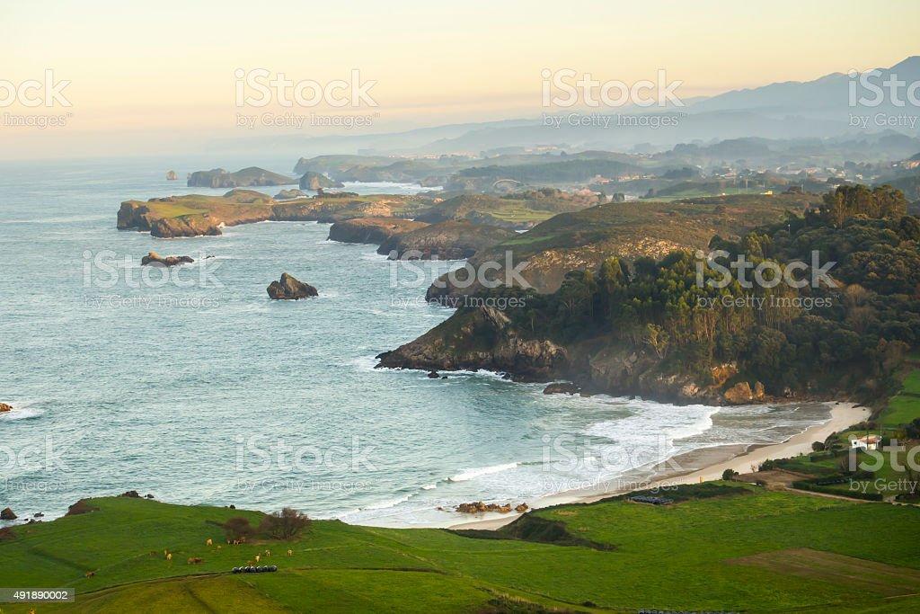 Costa de Asturias stock photo