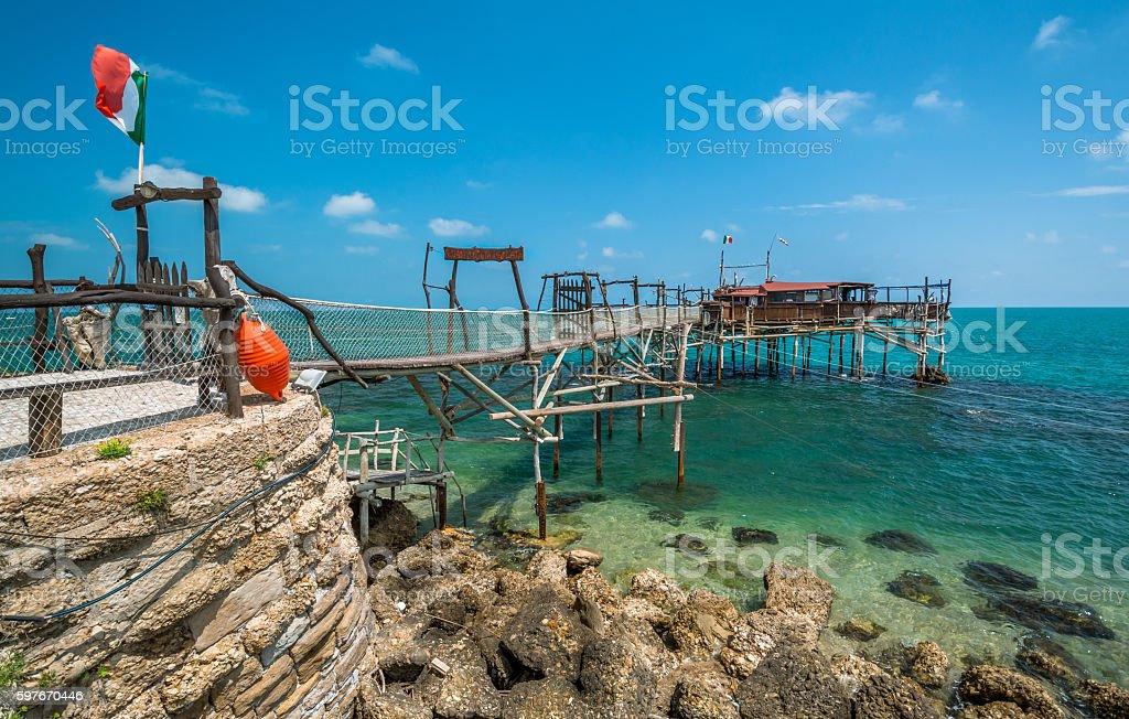 Costa dei Trabocchi, Chieti Province, Abruzzo (Italy) stock photo