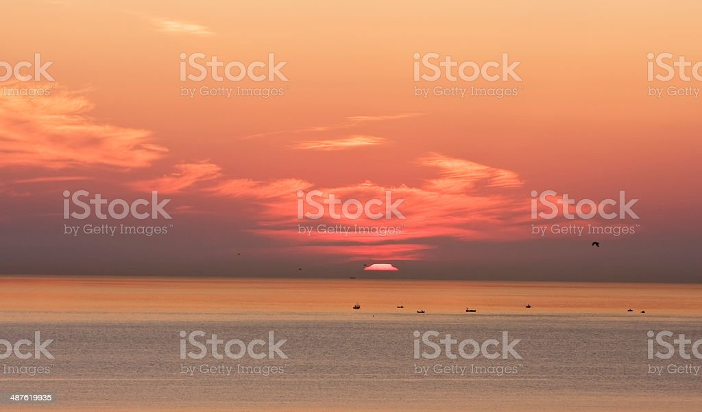 Costa del Sol At Dawn stock photo