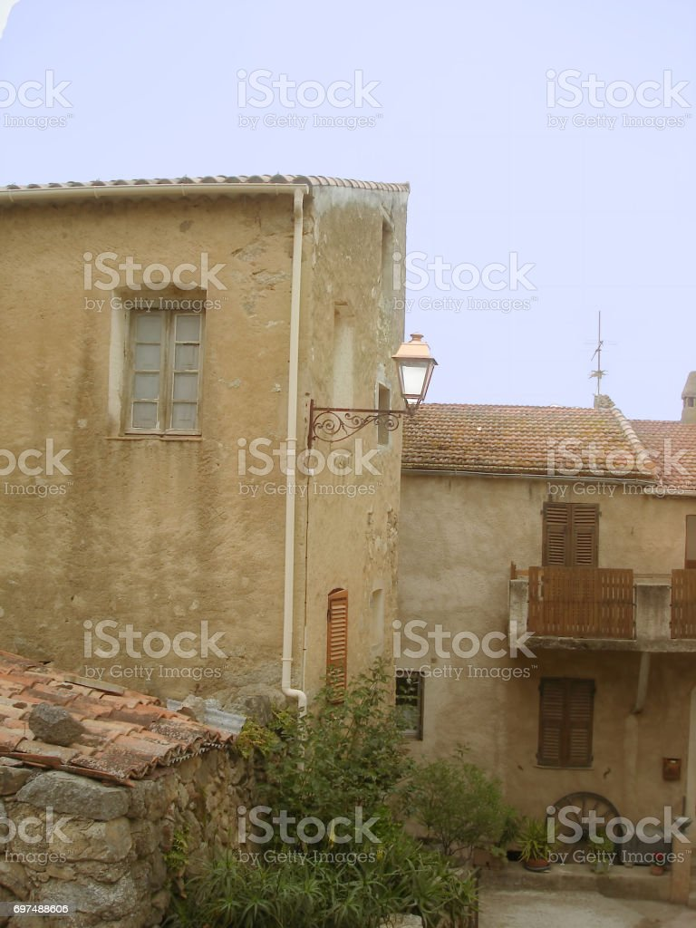 Costa in Haute Balagne stock photo