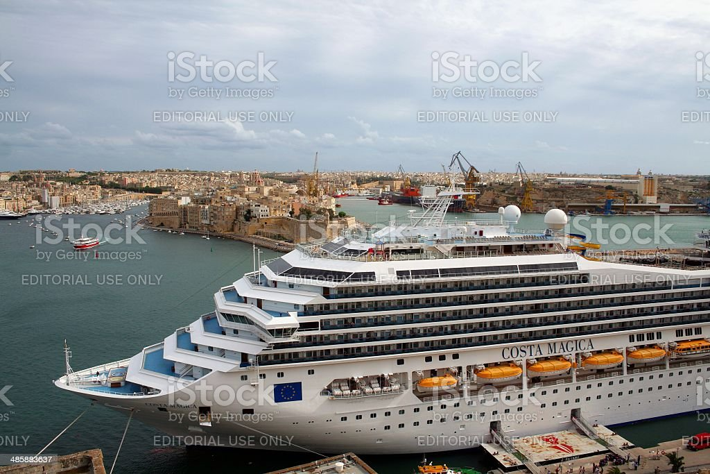 Costa Magica cruise ship Malta stock photo