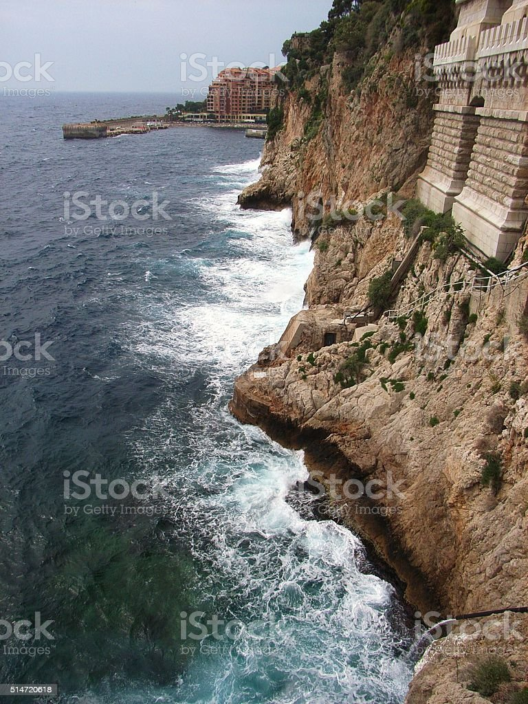Costa monegasca stock photo