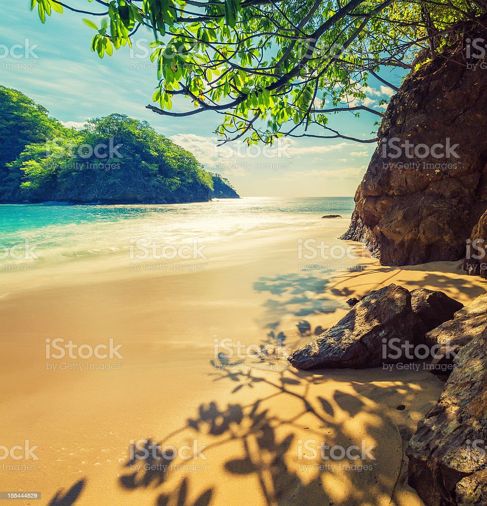 costa rica beach royalty-free stock photo