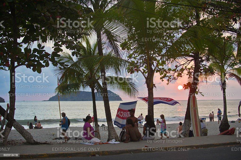 Costa Rica Beach Scene stock photo