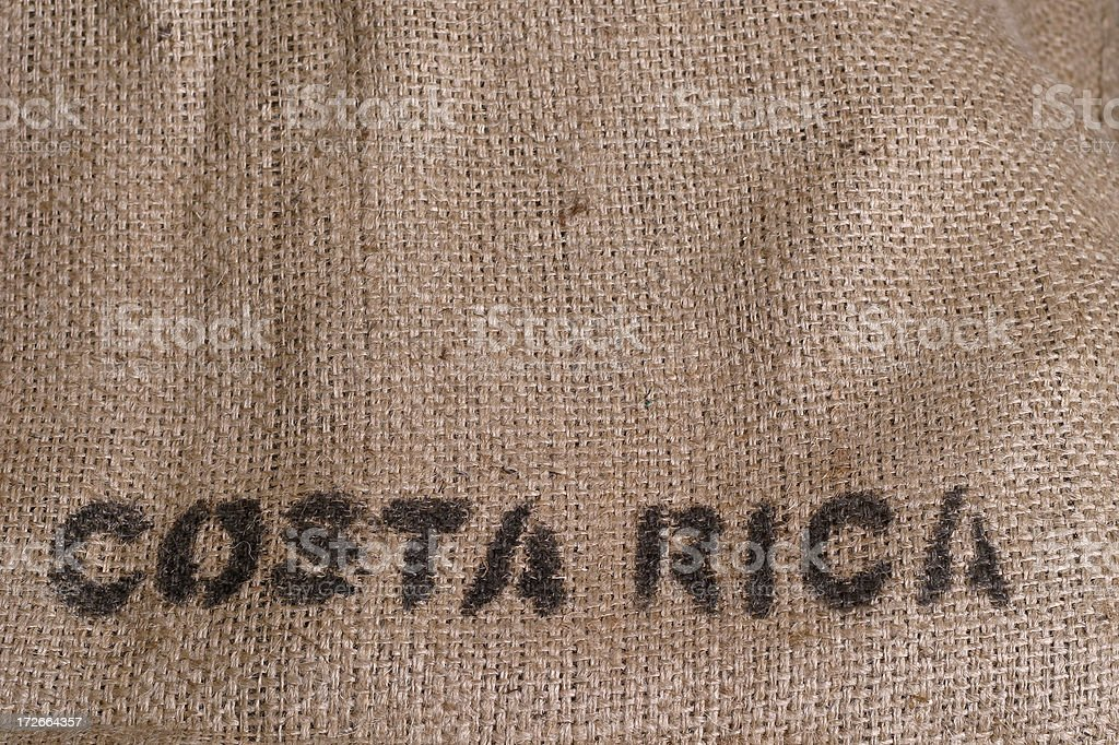costa rica burlap royalty-free stock photo