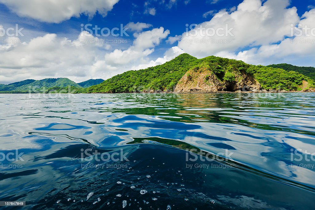 costa rica coast line stock photo