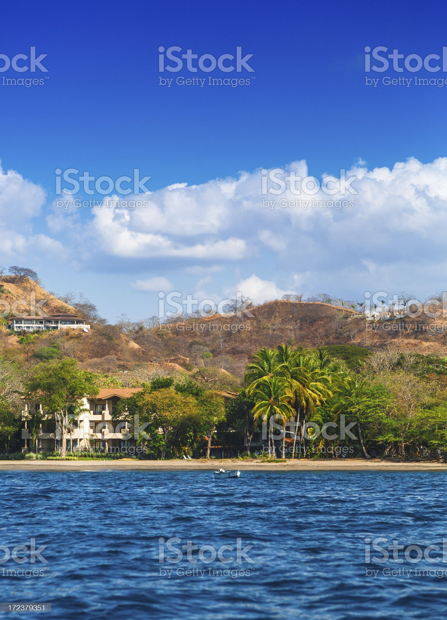 costa rica coast line royalty-free stock photo